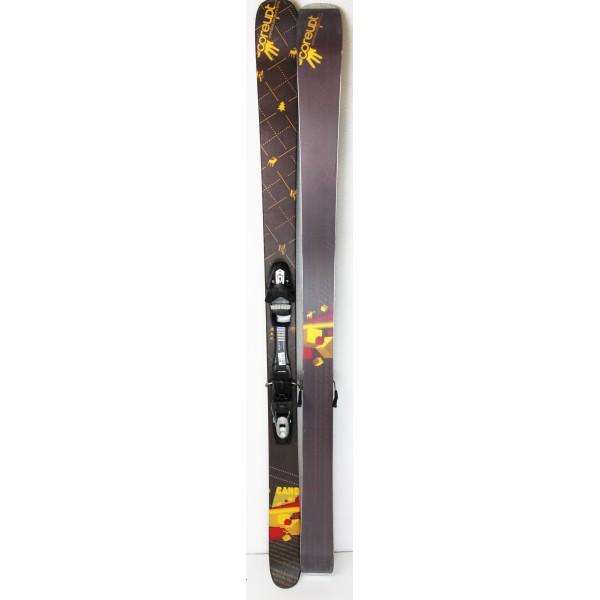 Pack Ski Coreupt Candide Pow + Fixations Tyrolia SP 120 Marron