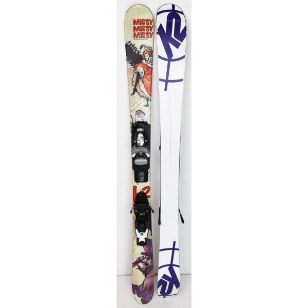 Pack Ski K2 Missy + Fixations Rossignol Comp J Jaune