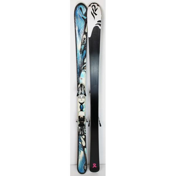 Pack Ski K2 True Luv + Fixations Marker M3 10.0 Bleu