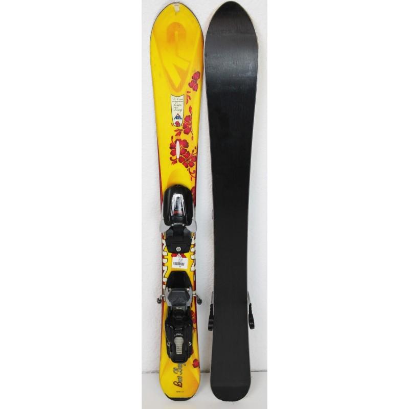 Pack Ski K2 Luv Bug + Fixations Marker 4.5 Jaune