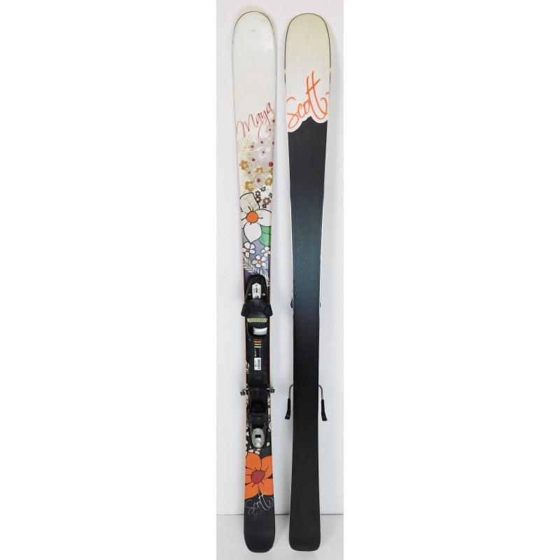 Pack Ski Scott Maya + Fixations Tyrolia SP100 Blanc / Noir