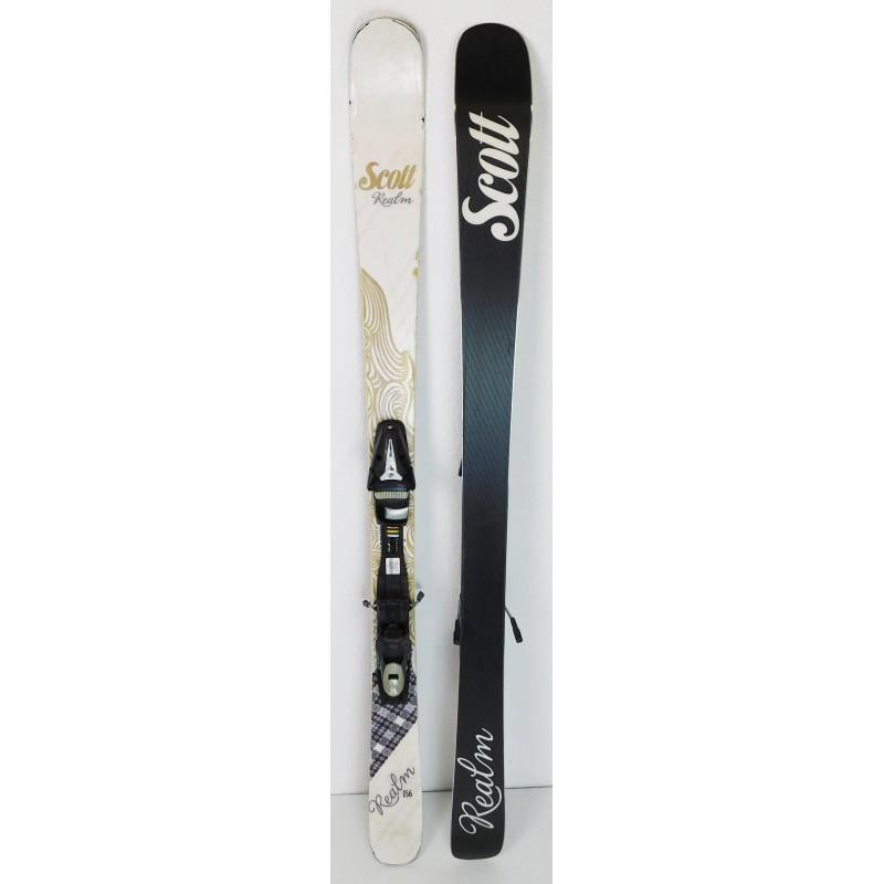 Pack Ski Scott Realm + Fixations Tyrolia SP10 Blanc