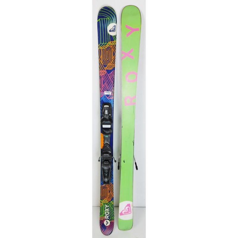 Pack Ski Roxy Hocus Pocus + Befestigungen Axium Jr Lila