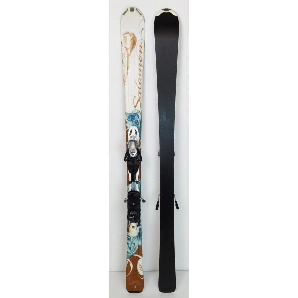 Pack Ski Salomon Opal + Bindings Salomon Z10 White