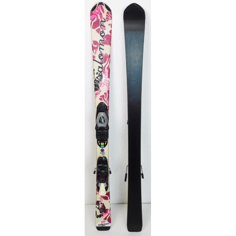 Pack Ski Salomon Jade + Fixations Salomon TZ5 Rose