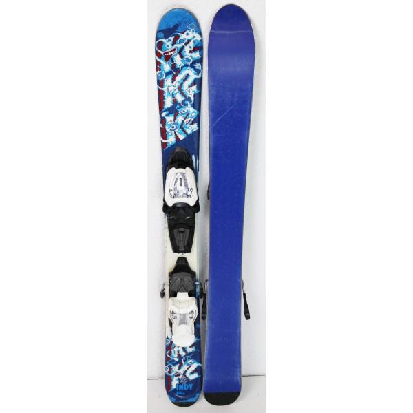 Pack Ski K2 Indy + Fixations Marker 4.5 Bleu / Rouge - état 2