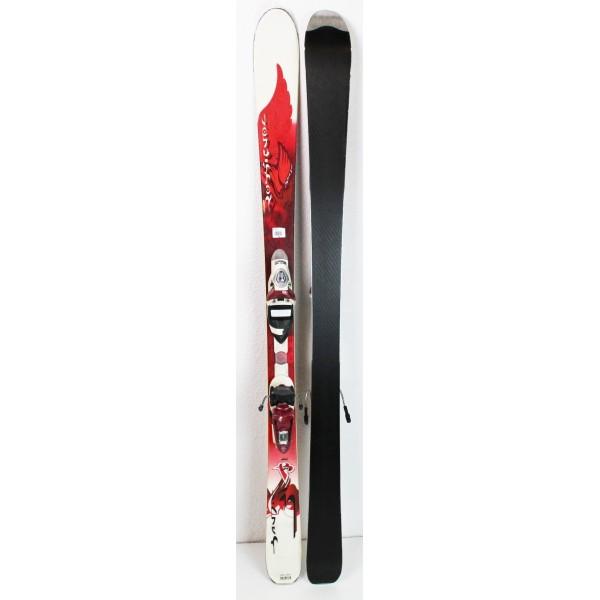 Pack Ski Rossignol Bandit B74 W + Fixations Axium 90 Rouge