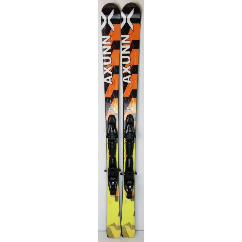 Pack Ski Axunn All-Mountain + Fixations Salomon S914 Jaune / Noir - état 2