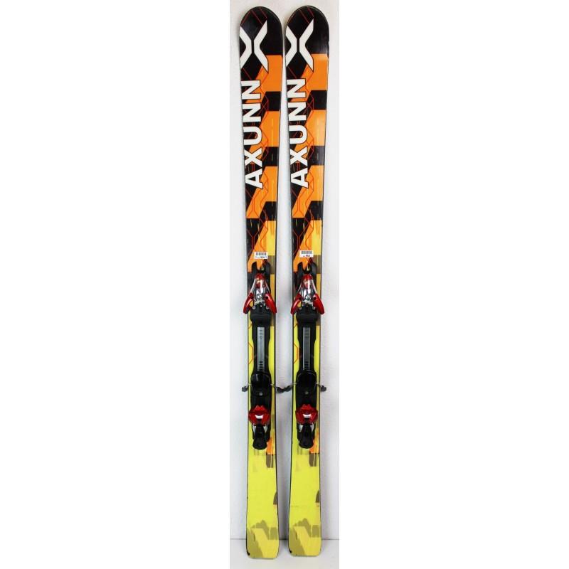 Pack Ski Axunn All-Mountain + Fixations Salomon S914 Jaune / Noir - état 3