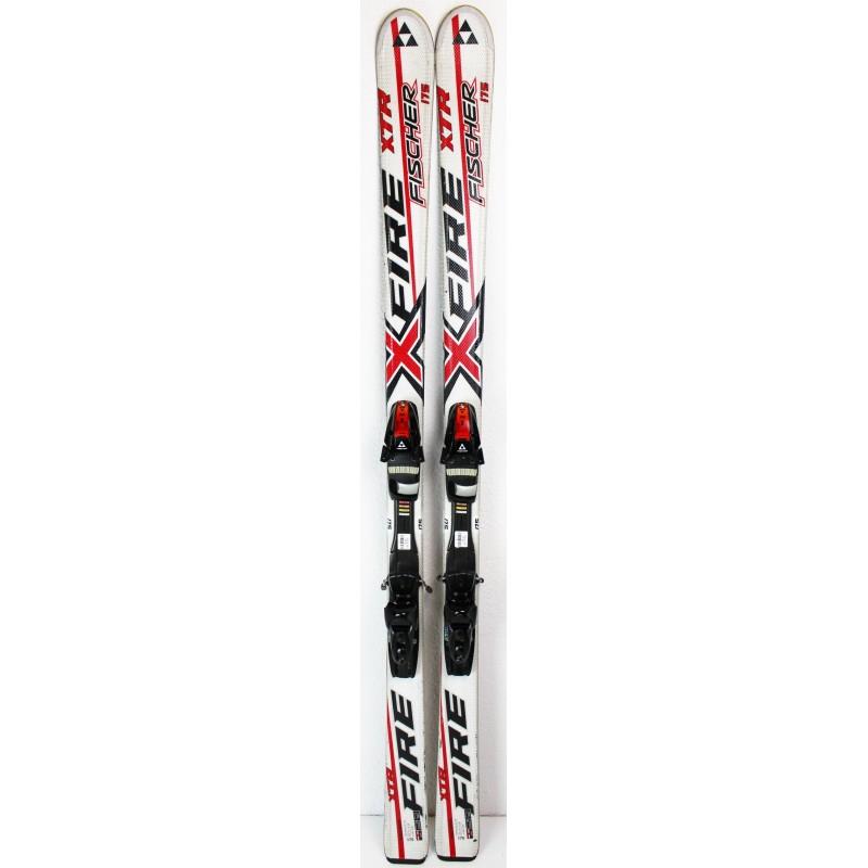 Pack Ski Fischer XTR Fire + Fixations XTR 10 Blanc / Rouge- état 3