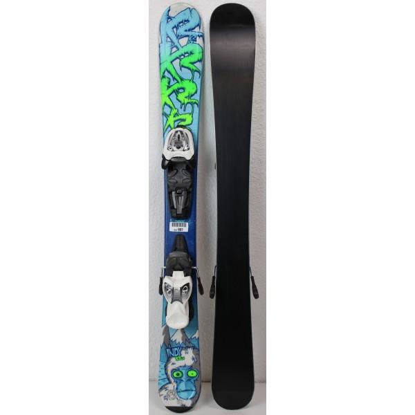 Pack Ski K2 Indy + Fixations Marker 4.5 Bleu / Vert - état 1