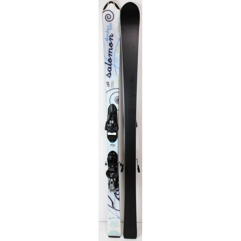 Pack Ski Salomon Amber 500 + Bindings 609 Blue - state 3