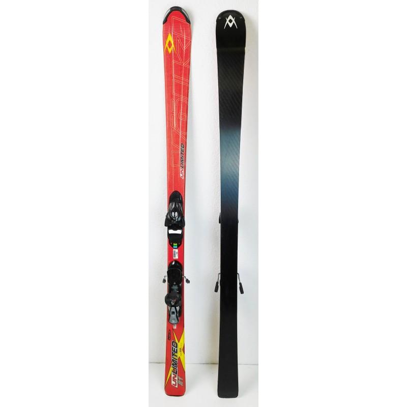 Pack Ski Volkl Unlimited R1 + Bindings Salomon 609 Red