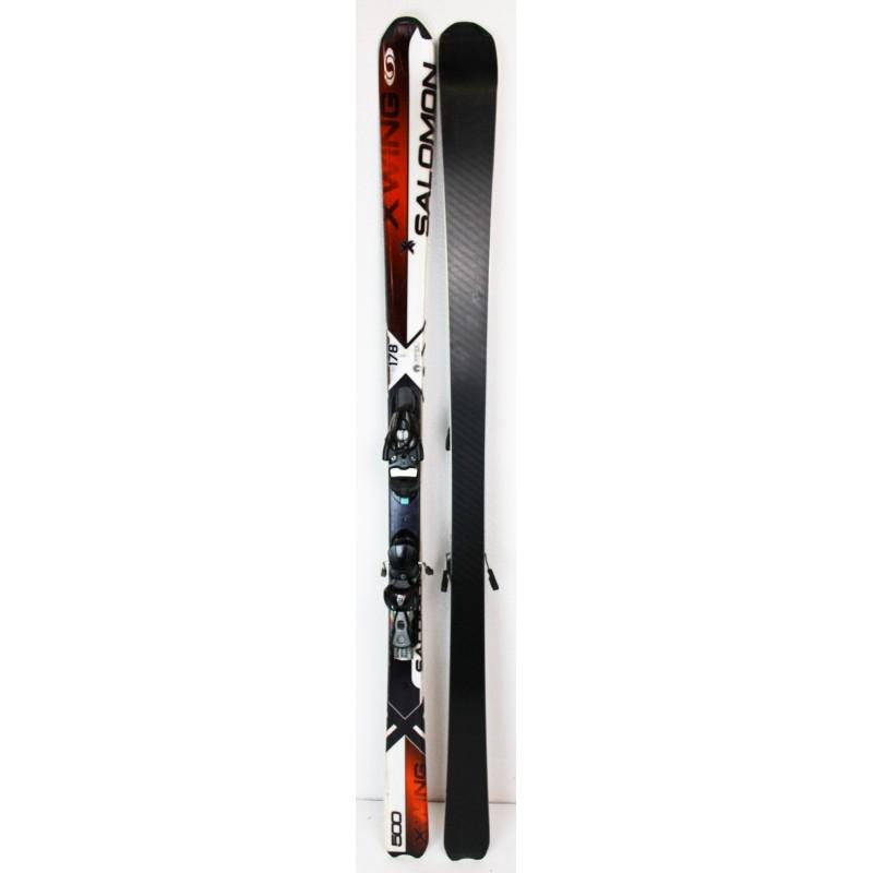Pack Ski Salomon X-Wing 500 + Fixations Salomon Z10 Rouge