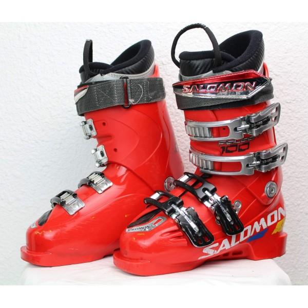 Chaussures de Ski Salomon Falcon 100 Rouge