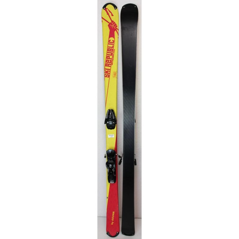 Pack Ski Axunn Ski Republic + Fixations Salomon L10 Rose - état 2