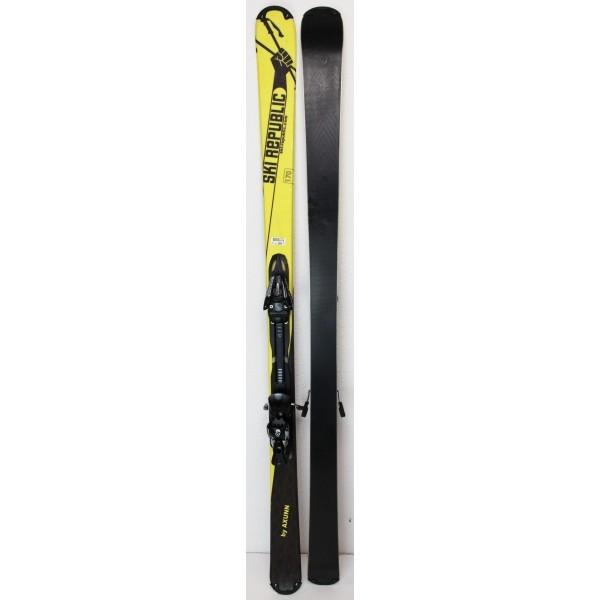 Pack Ski Axunn Ski Republic + Fixations Salomon L10 Jaune / Noir