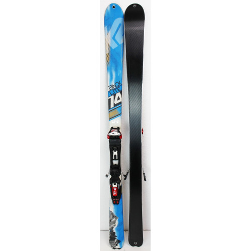 Pack Ski K2 Backlite 74 + Marker Bindings Tour F10 + Skins