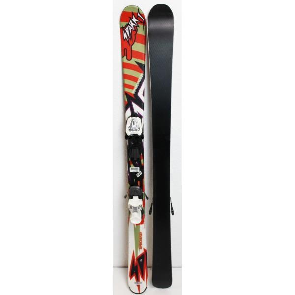 Pack Ski Nordica Spark J + Fixations Marker 7.0 Orange - état 3