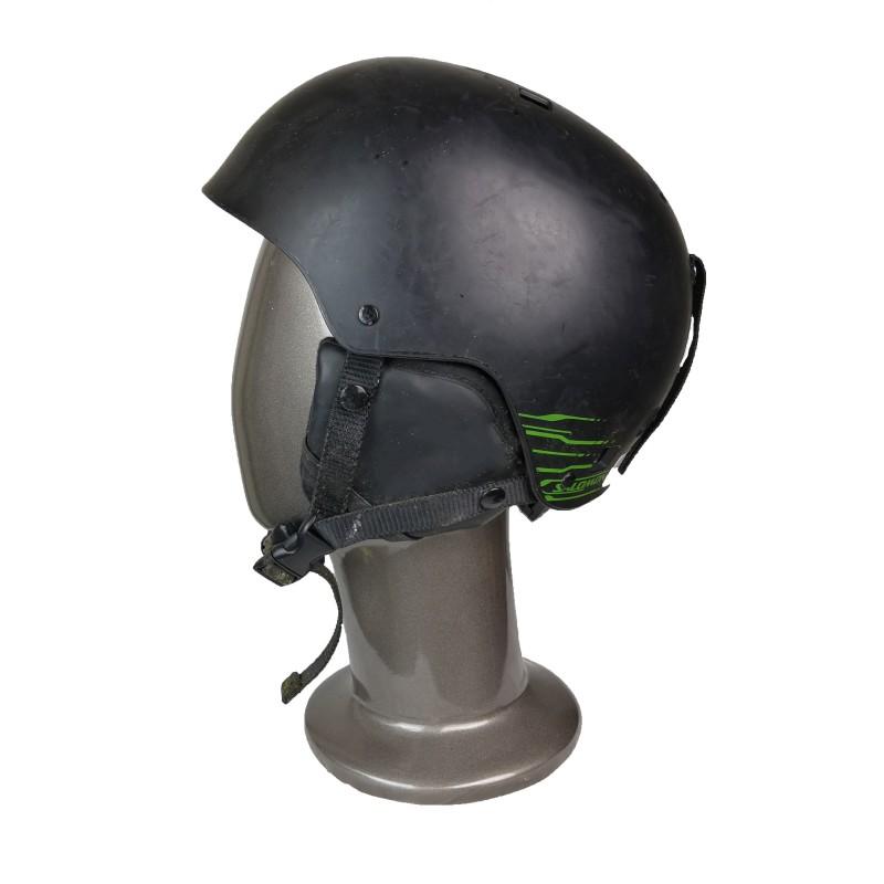 a62f3ab9e05b Helmet Ski Occasion Salomon J Black   Green - SkiOccas